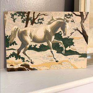 VTG Equestrian Horse Painting